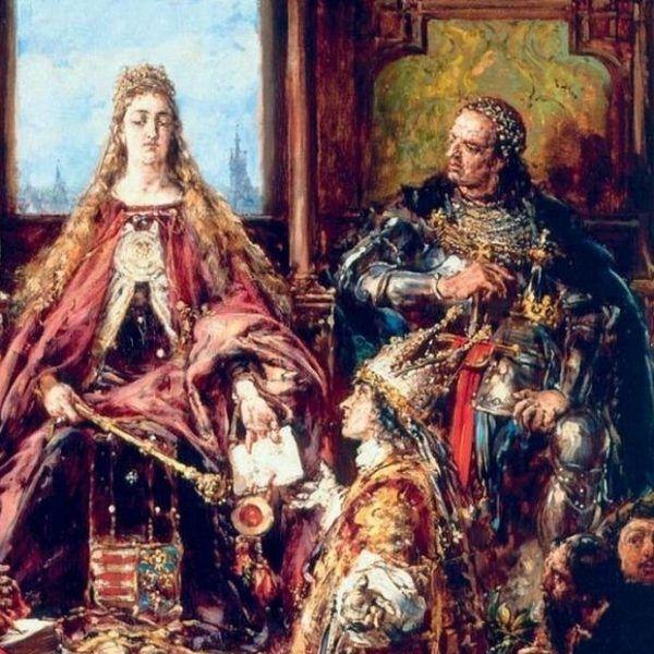 Jadwiga i Jagiełło na obrazie Jana Matejki.