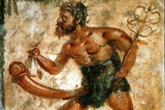 Priap z kaduceuszem. Zacny przykład sztuki starożytnych Rzymian