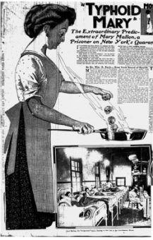 Mary Mallon, albo Tyfusowa Mary, na łamach prasy....