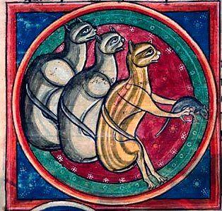 Kot ma mysz. Ala ma płaszcz z kota (A na poważnie ilustracja pochodzi ze średniowiecznego bestiariusza).