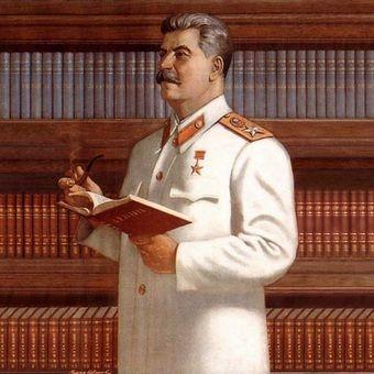 Stalin na tle ksiazek miniaturka