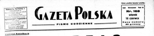 (...) Wiemy co natomiast musi być w Polsce, bo my tak chcemy. Musi być porządek. Musi być powaga i będzie. Obozy koncentracyjne. Tak. Dlaczego? Dlatego, że widać owych osiem lat pracy nad wielkością Polski, osiem lat przykładu i osiem lat osiągnięć, osiem lat krzepnięcia - nie wystarczyło dla wszystkich (...). (Cyt. za organem prasowym Sanacji: Gazeta Polska, nr 168, 19 VI 1934, s. 2).