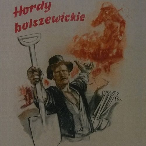 Fragment niemieckiego plakatu zachęcającego Polaków do pomocy przy wznoszeniu umocnień pod Krakowem (źródło: domena publiczna).