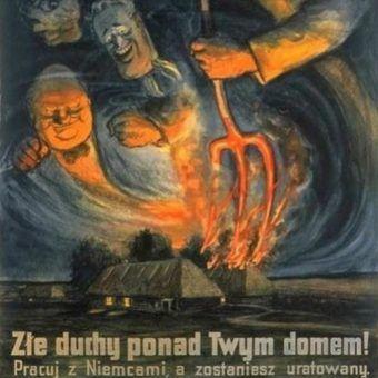 Niemiecki plakat zachęcający Polaków do kolaboracji z nazistami.