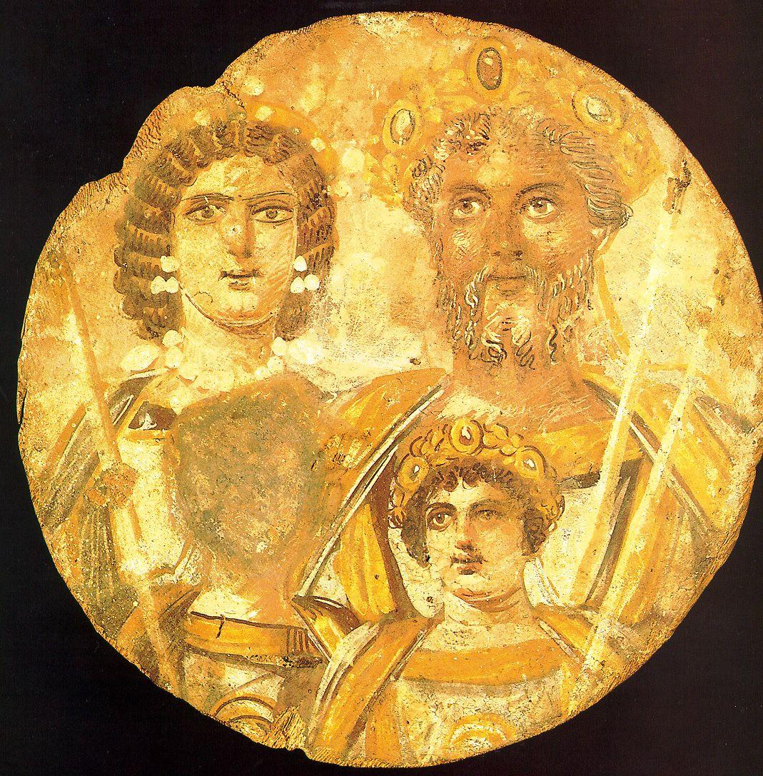 Septymiusz Sewer chciał, by Byzantion zniknął na zawsze. Nie udało mu się to. Na tondo widzimy go z żoną i synami, z których jednego, Getę, też próbowano usunąć z historii (źródło: domena publiczna).