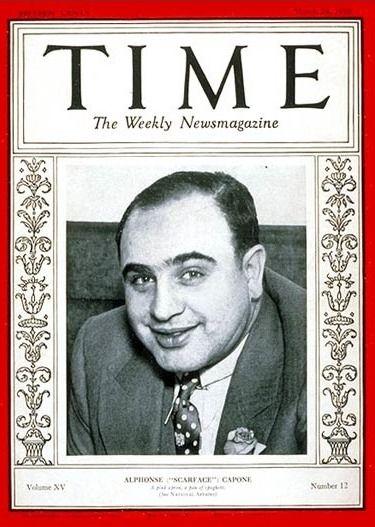 """Al Capone. Gangster stworzony przez kiłę? (Okładka """"Time"""" z 1931 roku)"""