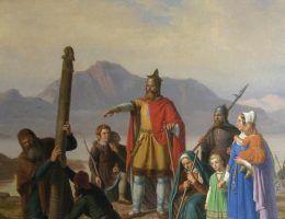 Ingólfr zakłada Reykjavík (obraz XIX-wieczny)