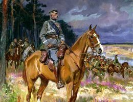 Kossak Józef Piłsudski on Kasztanka