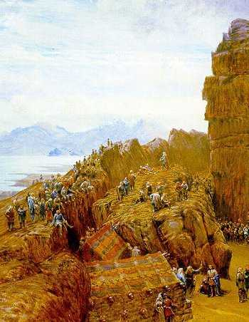Sesja Althingu, islandzkiego odpowiednika Kongresu, według XIX-wiecznego malarza W. G. Collingwooda (źródło: domena publiczna).