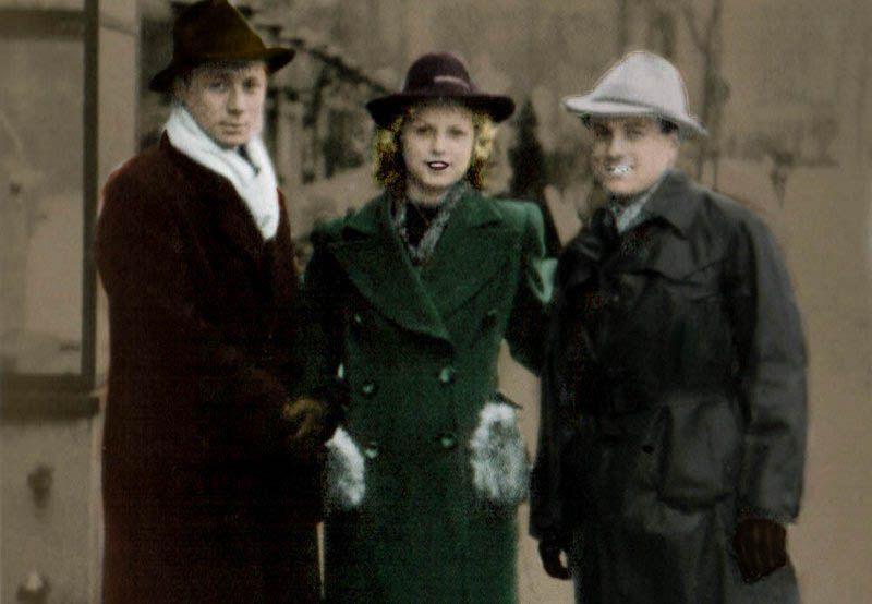 Po tym jak gestapo już złamało Stellę Kübler stała się ona wzorowym łapaczem. Na zdjęciu z członkami swojej siatki zajmującej się tropieniem ukrywających się berlińskich Żydów (koloryzacja RK).