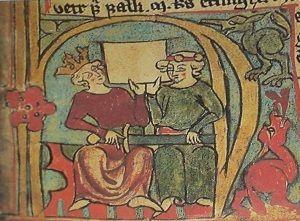 Håkon IV (z lewej). Z niego to był kawał skurczysyna...