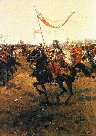 Pod Kutyszczami zaledwie 140 husarzy pokonało około 3000-3500 Moskali (źródło: domena publiczna).