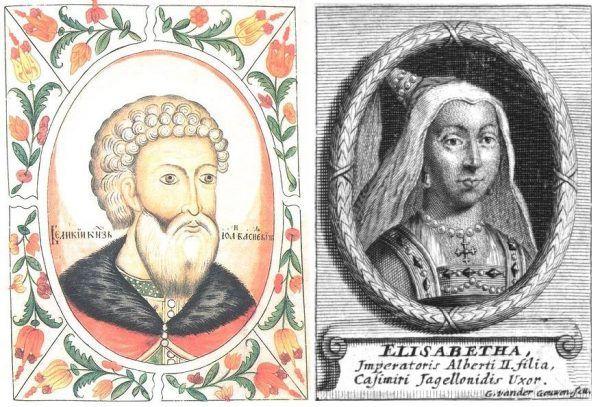 Ani Aleksander nie miał lekko z teściem (z lewej), ani Helena z teściową (z prawej). Bo kto to widział, żeby zbrojnie najeżdżać ziemie zięcia i zmuszać synową do zmiany religii?