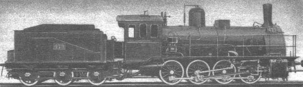 Takie lokomotywy ciągnęły składy kolei warszawsko-wiedeńskej, kiedy już wreszcie ukończono jej budowę...