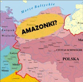 Z kim właściwie Polska graniczyła na północy? Przynajmniej zdaniem Ibrahima Ibn Jakuba... (źródło mapy: Poznaniak, lic. CC ASA 3,0)