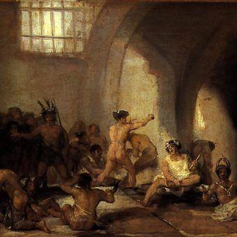 """Francisco Goya """"Casa de locos"""" (po naszemu, jak łatwo się domyślić: dom wariatów)."""