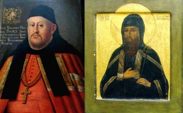 Hipacy Pociej i Józefat Kuncewicz. Pierwszy cudem przeżył, ale stracił palce. Drugi wprawdzie zginął (patrz: obrazek wyżej), ale przynajmniej został męczennikiem...