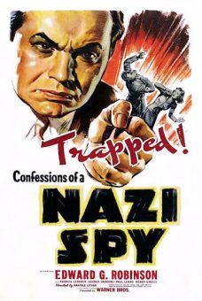 Plakat reklamujący pierwszy prawdziwie antynazistowski film w USA...