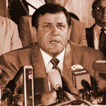 Vladimir Meciar w 1992 roku. Ambicji mu nie brakowało...