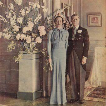 Edward i Wallis Simpson na ślubnym kobiercu (źródło: domena publiczna).
