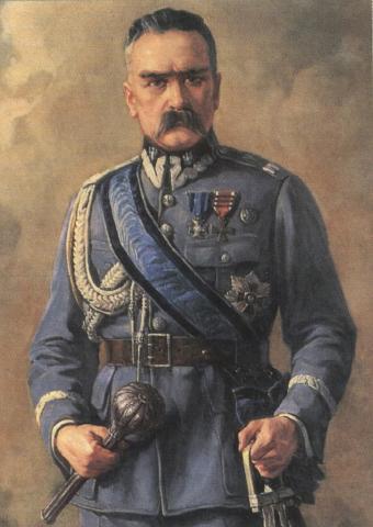Czy Robert Cintino ma rację twierdząc, że za zły stan polskiej armii w latach 30. bezpośrednio odpowiadał Józef Piłsudski? (źródło: domena publiczna).