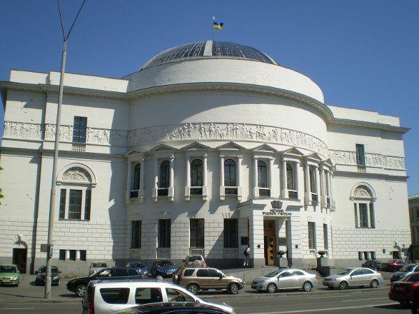 W tym budynku obradowała Ukraińska Centralna Rada z Hruszewskim na czele (fot. A1, domena publiczna)