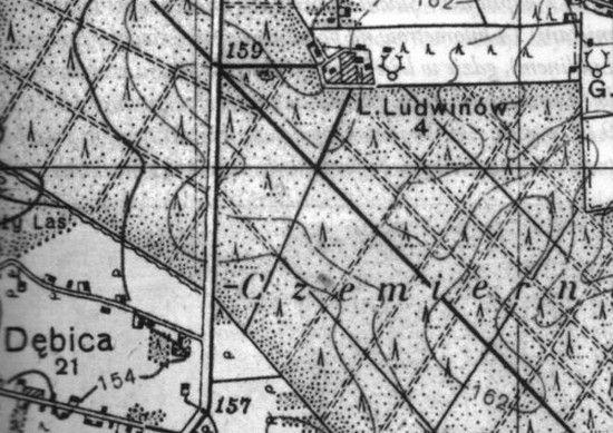 """Ludwinów to dzisiaj już nieistniejący majątek w Województwie Lubelskim. Powyżej plan przedrukowany w książce """"Mapa Tajemnic""""."""