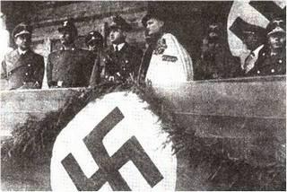 Wacław Krzeptowski i Hans Frank. Obu marzył się Legion Góralski Waffen SS. Jednak górale jakoś nie chcieli być członkami czarnej gwardii Hitlera