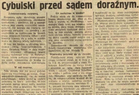 Już 27 lutego Cybulski stanął przed sądem. Dzisiaj takie tempo byłoby zupełnie nie do pomyślenia…