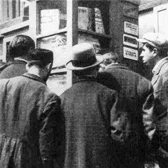 Zwyczajny przedwojenny kiosk.... W takich miejscach gnieździli się też najgorsi zwyrodnialcy!