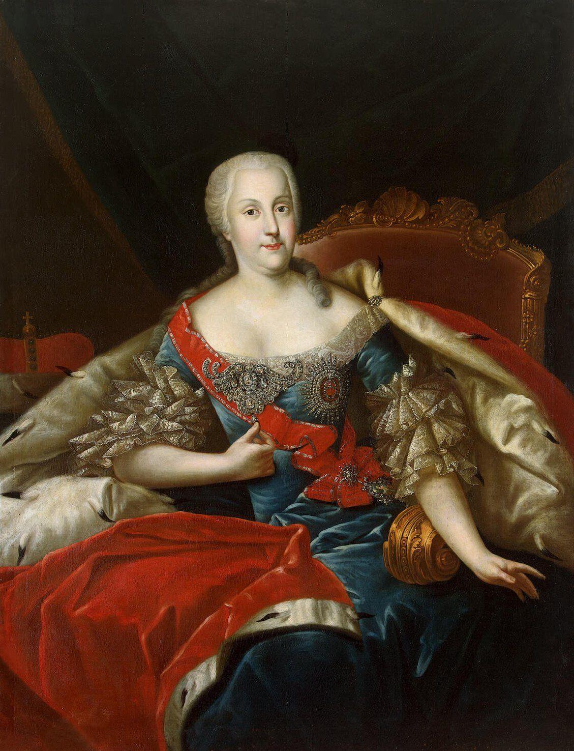 Joanna von Holstein-Gottorp. Nawet jej się nie śniło, że z pogardzanego przez nią kopciuszka wyrośnie caryca! (źródło: domena publiczna).