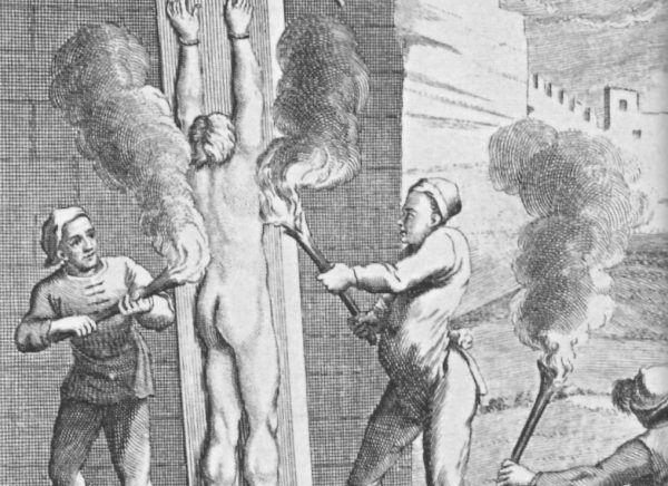 Dopiero ogień katowski rozwiązał podejrzanym kobietom języki... (źródło: domena publiczna).