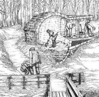 Budowa lodowni nnie była przedsięwzięciem dla jednej osoby. Ale od czego pani dziedziczka miała chłopów folwarcznych?