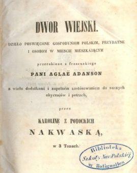 Strona tytułowa poradnika Nakwaskiej.