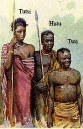 Tutsi, Hutu i Twa. Podział etniczny Rwandy promowany przez belgijskie władze kolonialne.