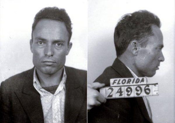 Zdjęcie Giuseppe Zangary z policyjnej kartoteki wykonane po zamachu na Franklina D. Roosevelta.