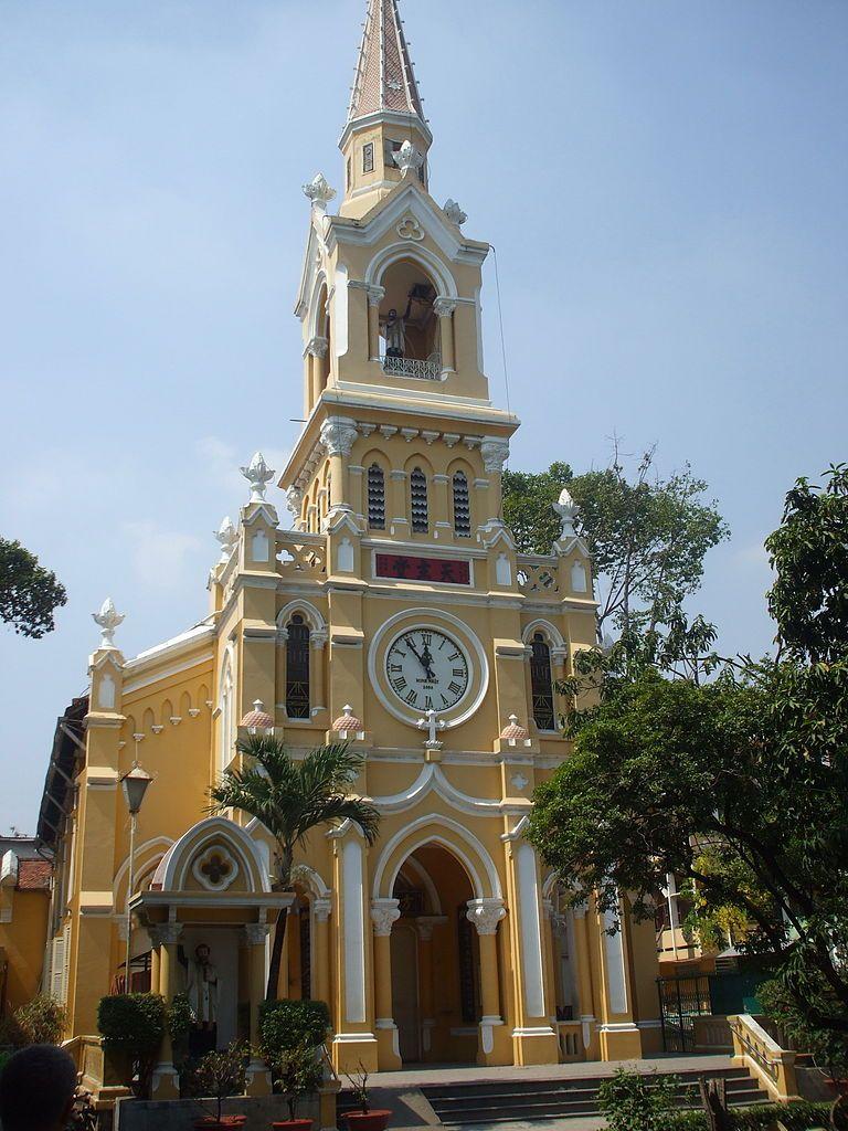 Kościół św. Franciszka Ksawerego w Sajgonie. To w nim szukali schronienia bracia Ngo.