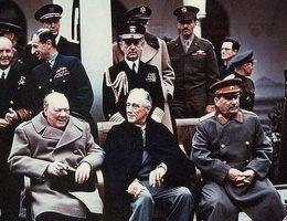 Yalta summit 1945 with Churchill Roosevelt Stalin