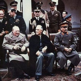 Yalta summit 1945 with Churchill Roosevelt Stalin