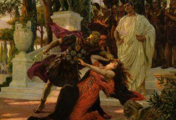 Seks, morderstwa i szaleństwo. Oto codzienność pierwszych rzymskich cesarzy. Tutaj śmierć zamordowanej z polecenia Klaudiusza Messaliny na obrazie Georges'a Antoine'a Rochegrosse'a.