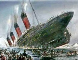 Zatonięcie Titanica na grafice Willy'ego Stöwera (domena publiczna).