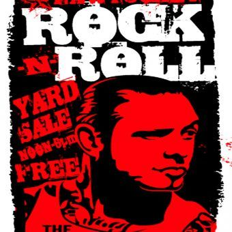 feb 13th pawtucket rock and roll yard sale poster by uncle1