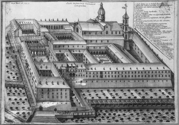 Klasztor Monte Cassino taki, jaki był przed idiotyczną decyzją aliantów o nalocie. Na ilustracji: rysunek opactwa pochodzący prawdopodobnie z XVIII wieku.