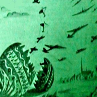 """Wielkanocna ilustracja z gazetki polskich lotników w Anglii """"Skrzydła"""" (1943)."""