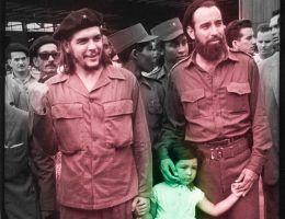 Trudno o gorszych ojców niż Che Guevara i Fidel Castro (fot. domena publiczna).