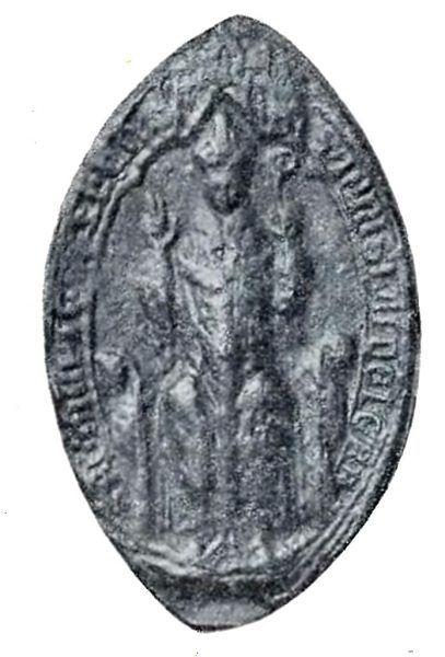 Kiedy Jan Muskata umarł ku wielkiej uldzie Jakuba Świnki i Władysława Łokietka, na stanowisku zastąpił go Nanker (wizerunek na pieczęci). Nowy biskup działał odwrotnie do starego i stał się propagatorem polskości.