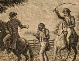 Chłostany niewolnik na amerykańskiej plantacji.