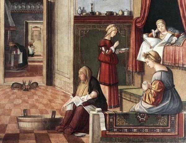 Narodziny w renesansowym stylu.