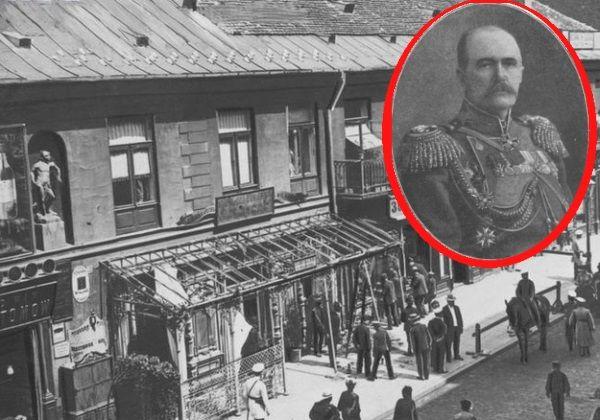 Rosyjscy dostojnicy nie czuli się w Polsce bezpiecznie. W kraju toczyła się w praktyce nieustanna wojna, a każdy dziany w carski mundur miał na czole tarczę strzelniczą. Na zdjęciu miejsce zamachu na Gieorgija Skałona.