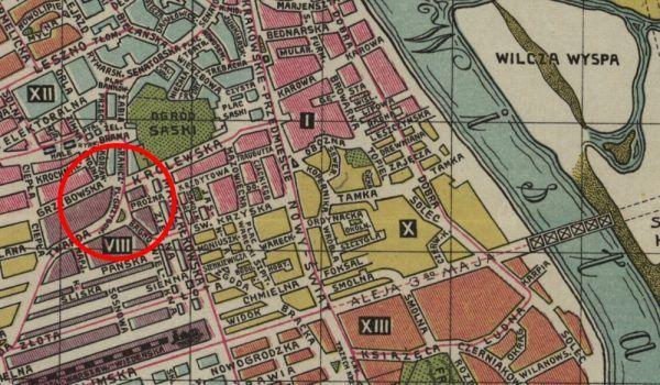 Na mapie Warszawy z 1904 roku zaznaczony jest Plac Grzybowski.